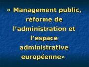 « « Management public,  réforme de