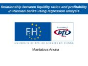 Relationship between liquidity ratios and profitability in Russian