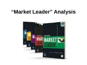 """ Market Leader"" Analysis  Business English Course"