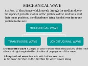 Презентация mechanical wave