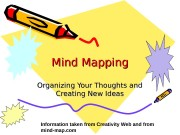 Mind Mapping Organizing Your Thoughts and Creating New