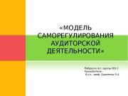 «МОДЕЛЬ САМОРЕГУЛИРОВАНИЯ АУДИТОРСКОЙ ДЕЯТЕЛЬНОСТИ»  СОСТАВ КОМАНДЫ