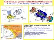 Monte Carlo event generators for NICA/MPD and CBM