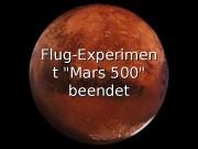 Flug-Experimen t «Mars   500» beendet