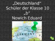 """Test zum Thema """"Deutschland""""  Schüler der Klasse"""