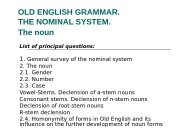 OLD ENGLISH GRAMMAR.  THE NOMINAL SYSTEM.