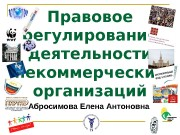 Правовое регулирование деятельности некоммерческих организаций Абросимова Елена Антоновна