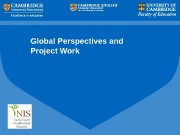 Global Perspectives and Project Work   Global