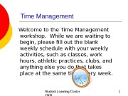 Презентация Нияз Time Management 09