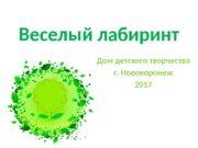Веселый лабиринт Дом детского творчества г. Нововоронеж 2017