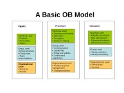 A Basic OB Model Individual Level  •