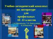 Учебно-методический комплект  по литературе для профильных 10