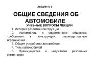 Презентация ОБЩИЕ СВЕДЕНИЯ ОБ АВТОМОБИЛЕ