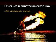 Презентация Огненное и пиротехническое шоу