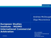 ESI at MGIMO International Commercial Arbitration 28 -30