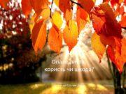 Опале листя: користь чи шкода?  Пiдготував Кiльчик