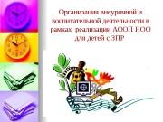 Презентация Оргнанизация внеурочной деятельности