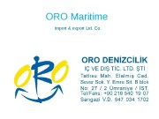 ORO Maritime  import & export Ltd. Co.