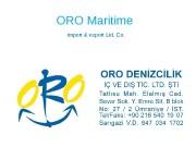 ORO Maritime  import & export Ltd. Co.