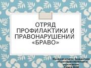ОТРЯД ПРОФИЛАКТИКИ И ПРАВОНАРУШЕНИЙ  «БРАВО» Муниципальное бюджетное