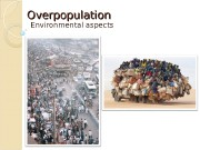 Overpopulation Environmental aspects  Term in general. History