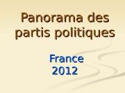 Panorama des partis politiques    France