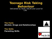 Teenage Risk Taking Behaviour    Delivered