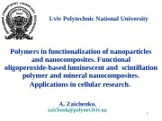 1 Polymers in functionalization of nanoparticles and nanocomposites.