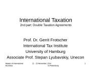 Презентация part-2-Double Taxation 2014