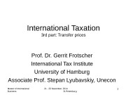 Презентация part-3-Transfer prices 2014