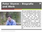 Peter Stamm – Biografie und Werk Andreas