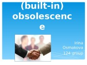 Презентация planned built-in obsolescence