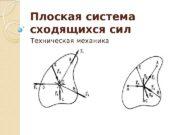 Плоская система сходящихся сил Техническая механика  Плоская