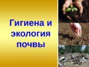 Гигиена и экология почвы  1.  Понятие