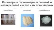 Полимеры и сополимеры акриловой и метакриловой кислот и