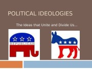 POLITICAL IDEOLOGIES The Ideas that Unite and Divide