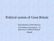 Political system of Great Britain Elina Hanstein, Helen