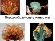 Породообразующие минералы  Изверженные породы состоят из немногих