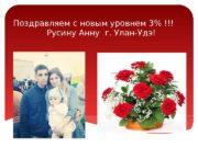 Поздравляем с новым уровнем 3% !!!  Русину