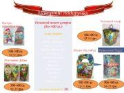 Новорічні подарунки Основний пакет цукерок (для 400 гр.