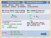 Present Simple Present Progressive usually  always often