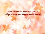 THE PRESENT SIMPLE TENSE ( )Простое настоящее время