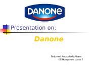Presentation on: Danone