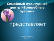 Семейный культурный центр «Волшебные бутоны» г. Ростов-на-Дону 2017