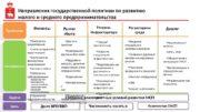 Направления государственной политики по развитию малого и среднего