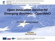 Basic Information. South-East Finland — Russia European Neighbourhood
