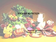 Презентация proper nutrition