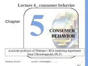 Marketing, lecture 4 ass. prof. I. I. Skorobogatykh