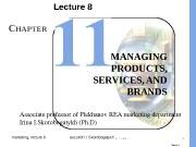 marketing, lecture 8 ass. prof. I. I. Skorobogatykh