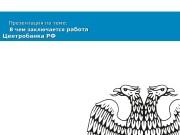 Презентация Работа и деятельность ЦБ